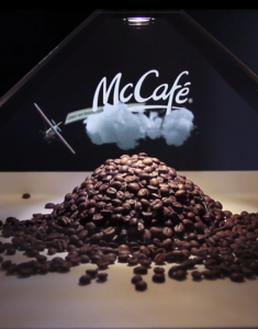 Coffee Presentation Holographic Display