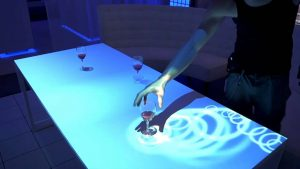 Interactive table projection
