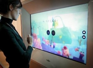 Transparent display exhibitions