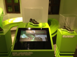 Nike Lunarglide+ Levitation Display