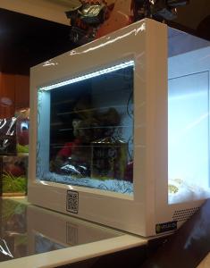 Transparent Display 3 Sided Model