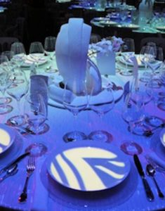 Video mapping projection on table