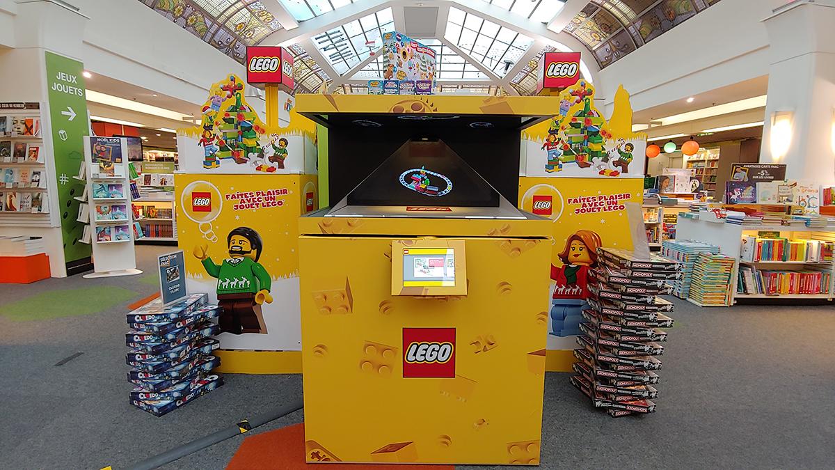 LEGO POS Holograms at FNAC Montparnasse Paris France