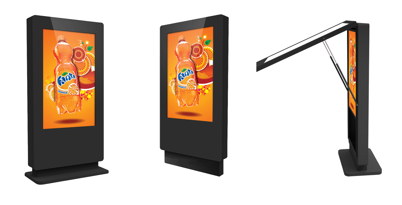 Outdoor totems lcd touch