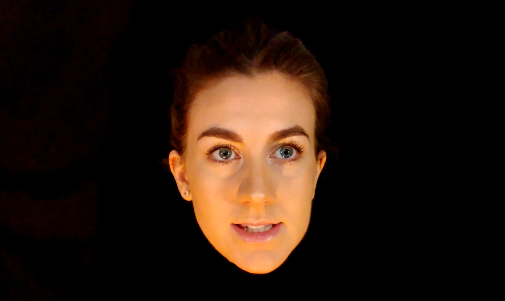Presenter face for a hologram